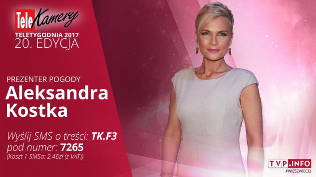 Aleksandra Kostka nominowana jest w kategorii prezenterka pogody (graf. tvp.info)