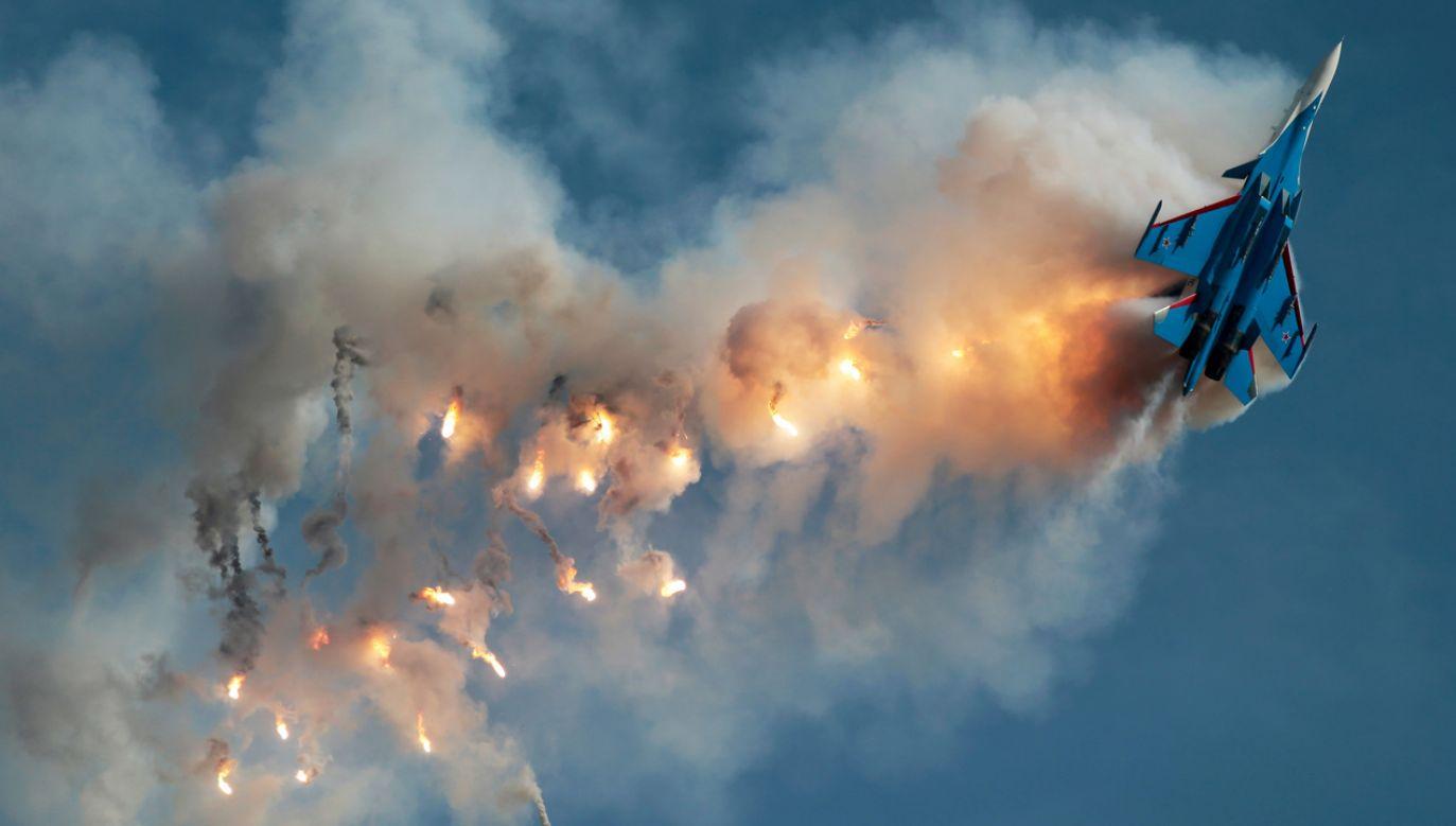 Rosyjski  Su-30SM (fot. REUTERS/Andrey Volko)