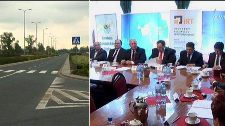 Uroczystość podpisania porozumienia między samorządami Aglomeracji Legnickiej