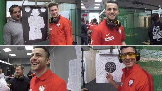 Piłkarze na strzelnicy (fot. TVP Info)