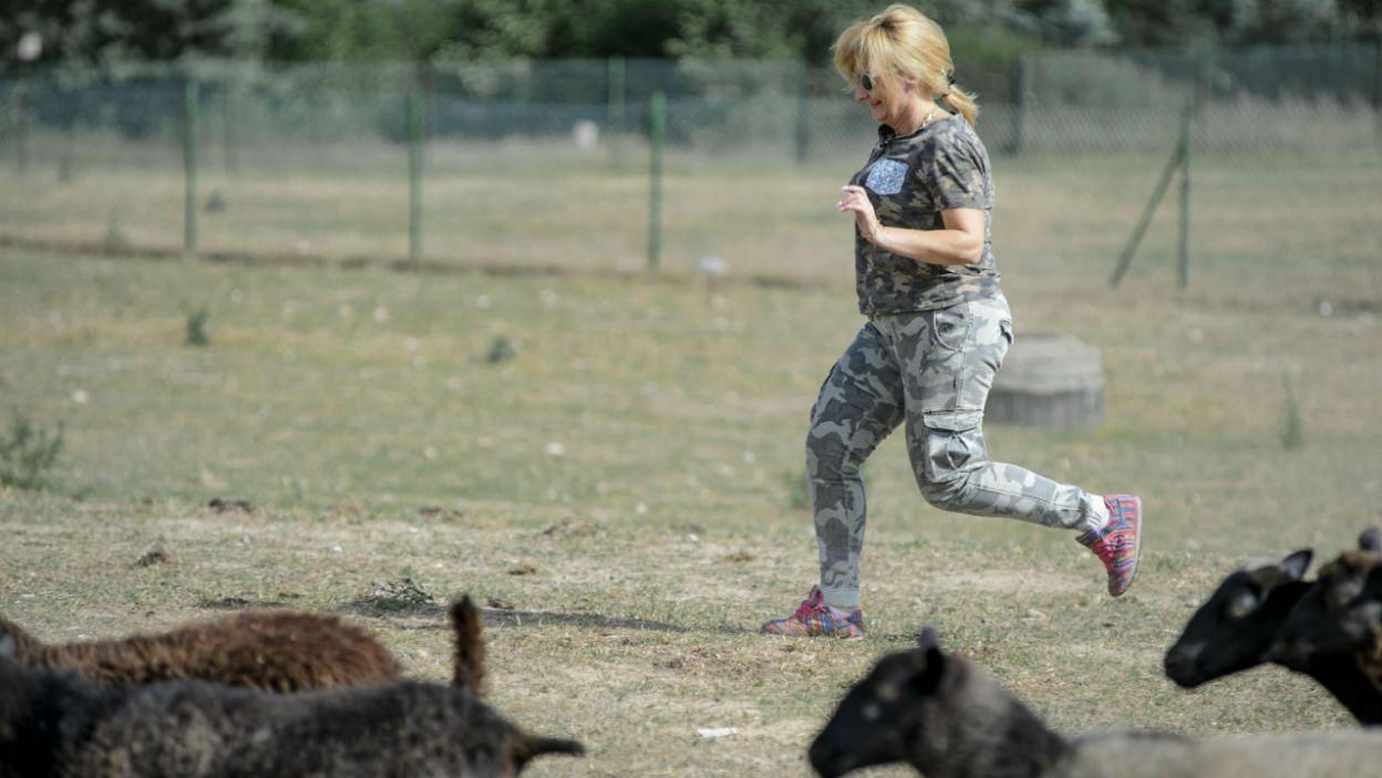 Kiedy Maria potraktowała to jak aerobik... (fot. TVP)