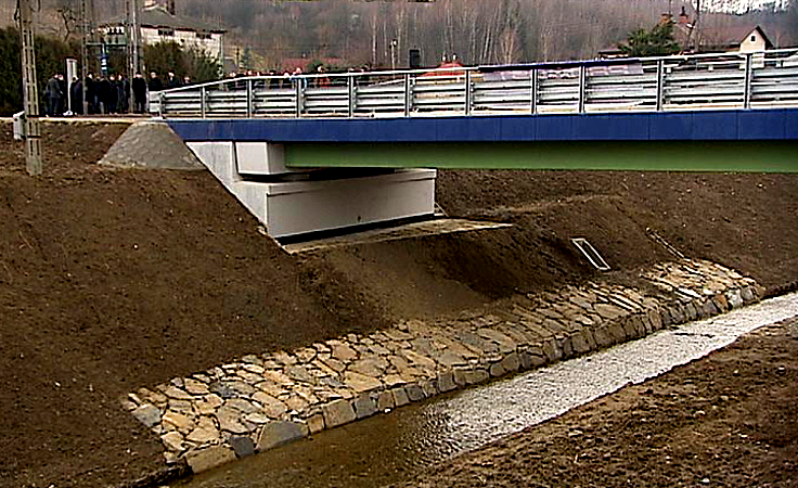 Otwarcie kompozytowego mostu w Błażowej