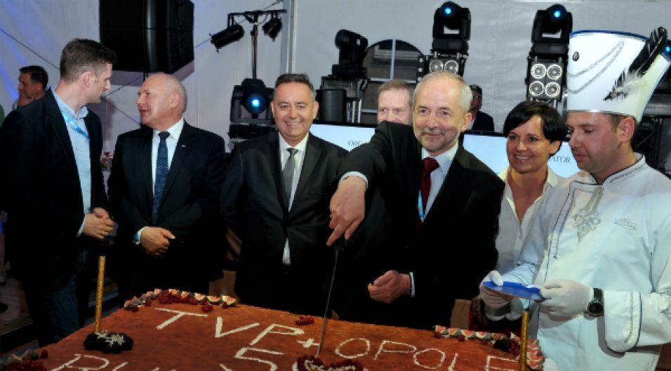 W opolskim amfiteatrze nie zabrakło prezesa Juliusz Brauna (fot. I. Sobieszczuk/TVP)