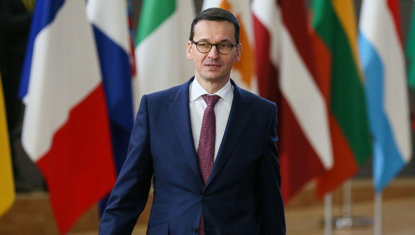 Premier Mateusz Morawiecki zakończył pierwszą oficjalną wizytę zagraniczną (fot. PAP/EPA/STEPHANIE LECOCQ)