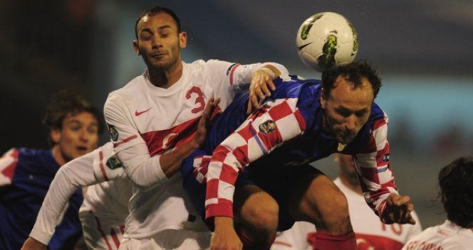W pierwszym meczu barażowym Chorwaci wygrali 3:0, a w rewanżu zremisowali 0:0 (fot. Getty Images)