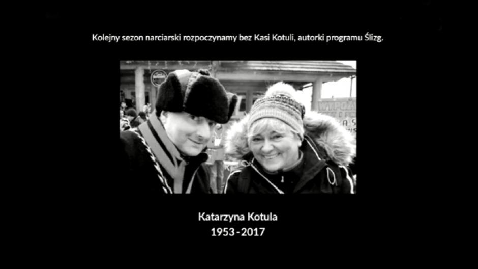 Katarzyna Kotula, dziennikarka TVP Kraków, autorka programu Ślizg, zmarła 5 listopada 2017 roku