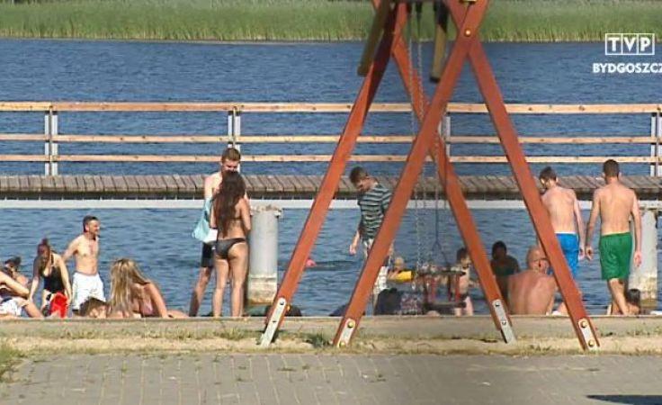 Na plaży w Chmielnikach we wtorek był tłum
