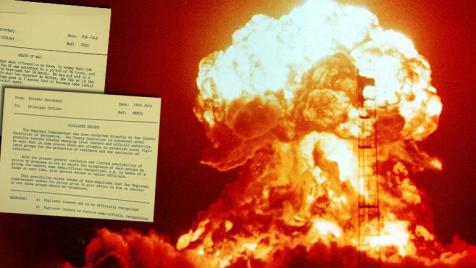 Z odtajnionych dokumentów wynika, że Wielka Brytania chciała w teorii przetestować scenariusz nuklearnego ataku (fot. National Archives/Wikipedia)