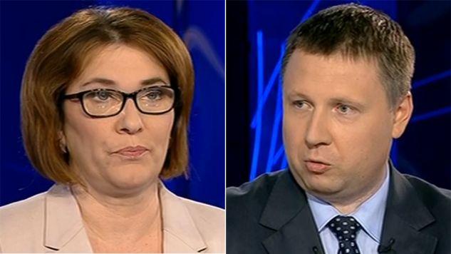 Beata Mazurek i Marcin Kierwiński byli gośćmi TVP Info