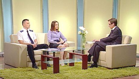 Ewa Cichoń i mł. aspirant Robert Ćwikowski, 05.07.2011