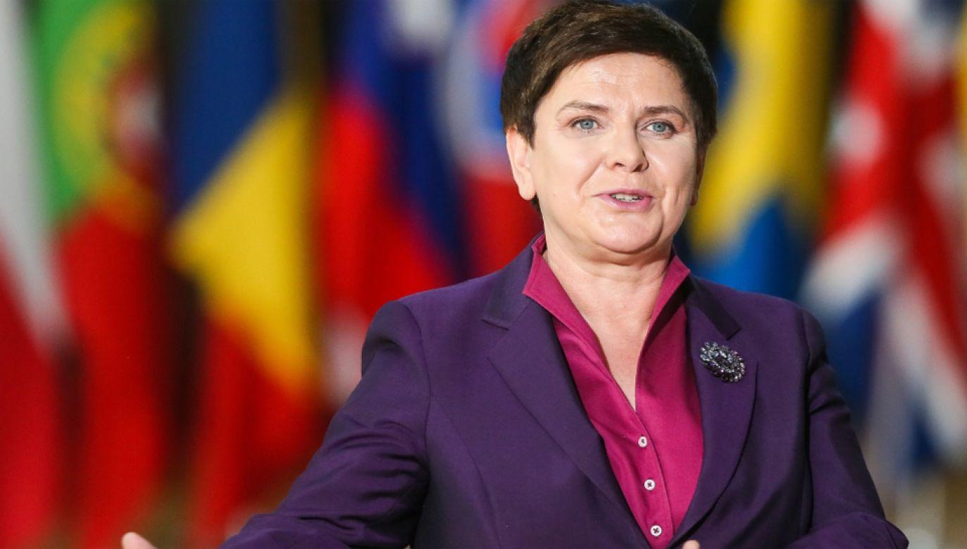 Polskę na szczycie reprezentuje premier Beata Szydło (fot. PAP/EPA/STEPHANIE LECOCQ)