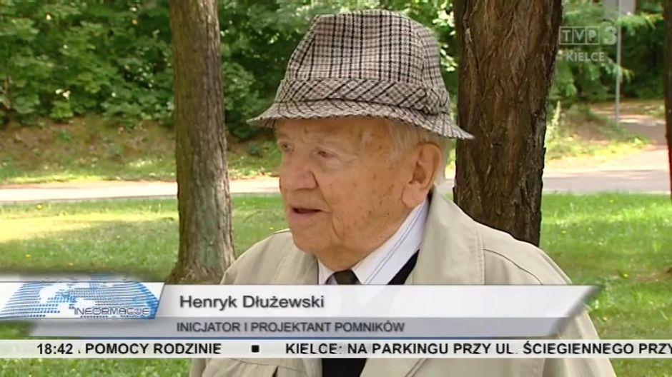 Henryk Dłużewski, inicjator i projektant pomników, laureat nagrody Miasta Kielce