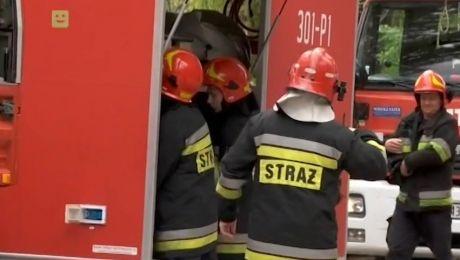 Przyczyna pożaru nie jest w tej chwili znana. Ustali ją biegły z zakresu pożarnictwa. Fot. arch. TVP3 Kraków