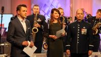 """6. Muzycy z zespołu """"United States Air Forces in Europe"""" w TVP3 Rzeszów"""