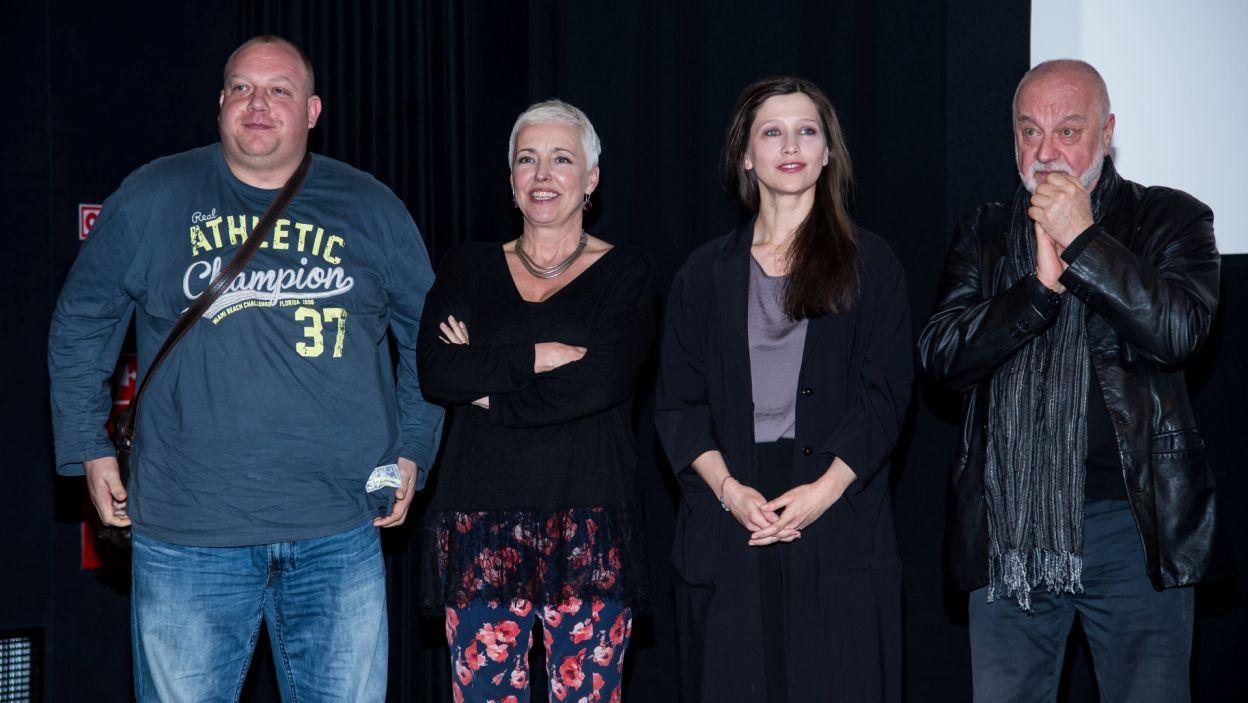 Bartłomiej Nowosielski, Ewa Telega, Anna Grycewicz i Jerzy Schejbal (fot. Jan Bogacz)