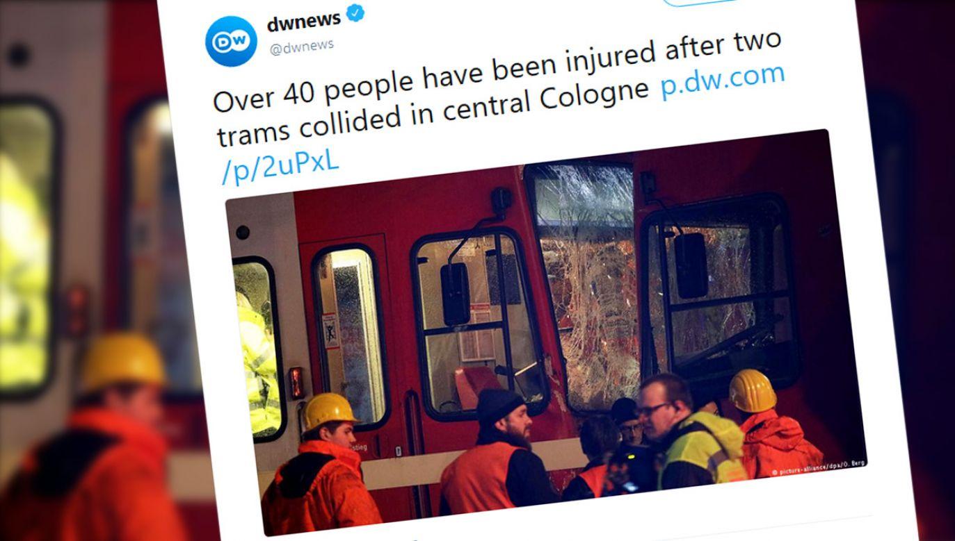Jedna osoba została ciężko ranna (fot. tt/@dwnews)