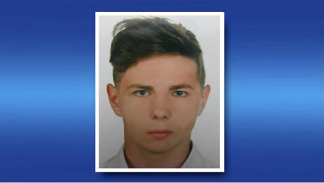 17-letni Jakub Stachowski mierzy około 168 cm wzrostu i jest szczupłej budowy ciała (fot. KPP Kętrzyn)