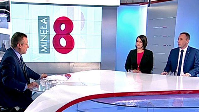 Zbigniew Konwiński (PO) cieszy się ze zmiany retoryki Ryszarda Petru (Nowoczesna) (fot. TVP Info)