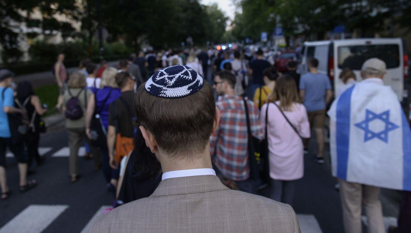Goście TVP Info komentowali napięcie na linii Izrael-Polska (fot. Omar Marques/Anadolu Agency/Getty Images)