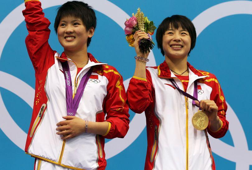 Złoto zdobyły Chinki Ruolin Chen i Hao Wang (fot. Getty Images)