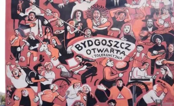Mural przy Pięknej promuje Bydgoszcz jako miasto otwarte i tolerancyjne