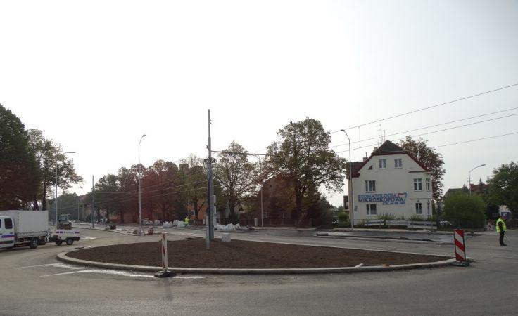 skrzyżowanie ulic Wernyhory, Żołnierskiej, Mickiewicza i Reduty Ordona
