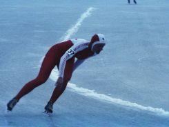 Erwina Ryś-Ferens w Sarajewie zajęła m.in. 5. miejsce w rywalizacji panczenistek na 1500 m (fot. PAP)
