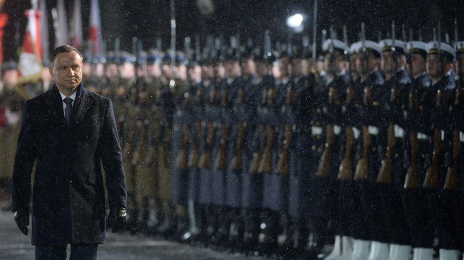 Obchody Narodowego Dnia Pamięci Żołnierzy Wyklętych - uroczystość na placu Marszałka Piłsudskiego/PAP/Bartłomiej Zborowski