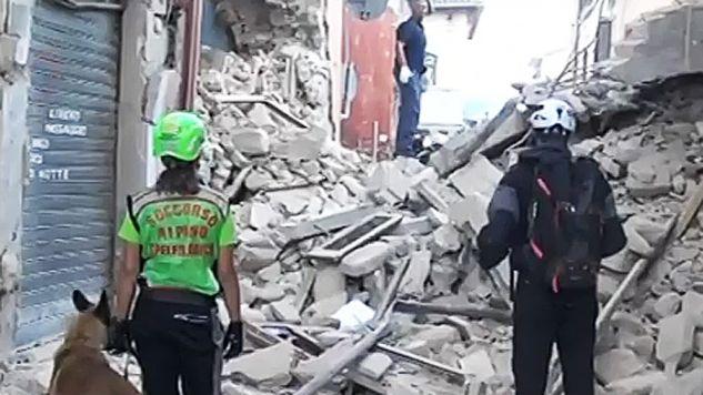 Wiele budynków i dróg jest uszkodzonych (fot. TVP Info)
