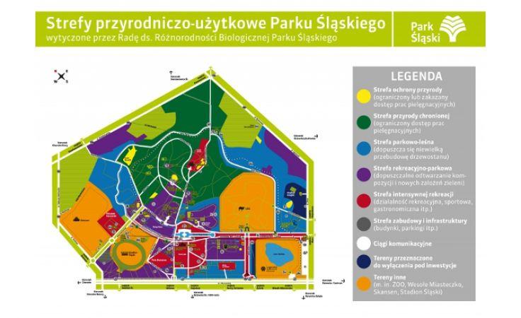 Strefy przyrodniczo-użytkowe. Powstała mapa rozwoju Parku Śląskiego. Foto. www.parkslaski.pl