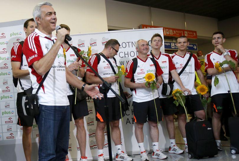 Andrea Anastasi podziękował za gorące przywitanie (fot. PAP/Leszek Szymański)