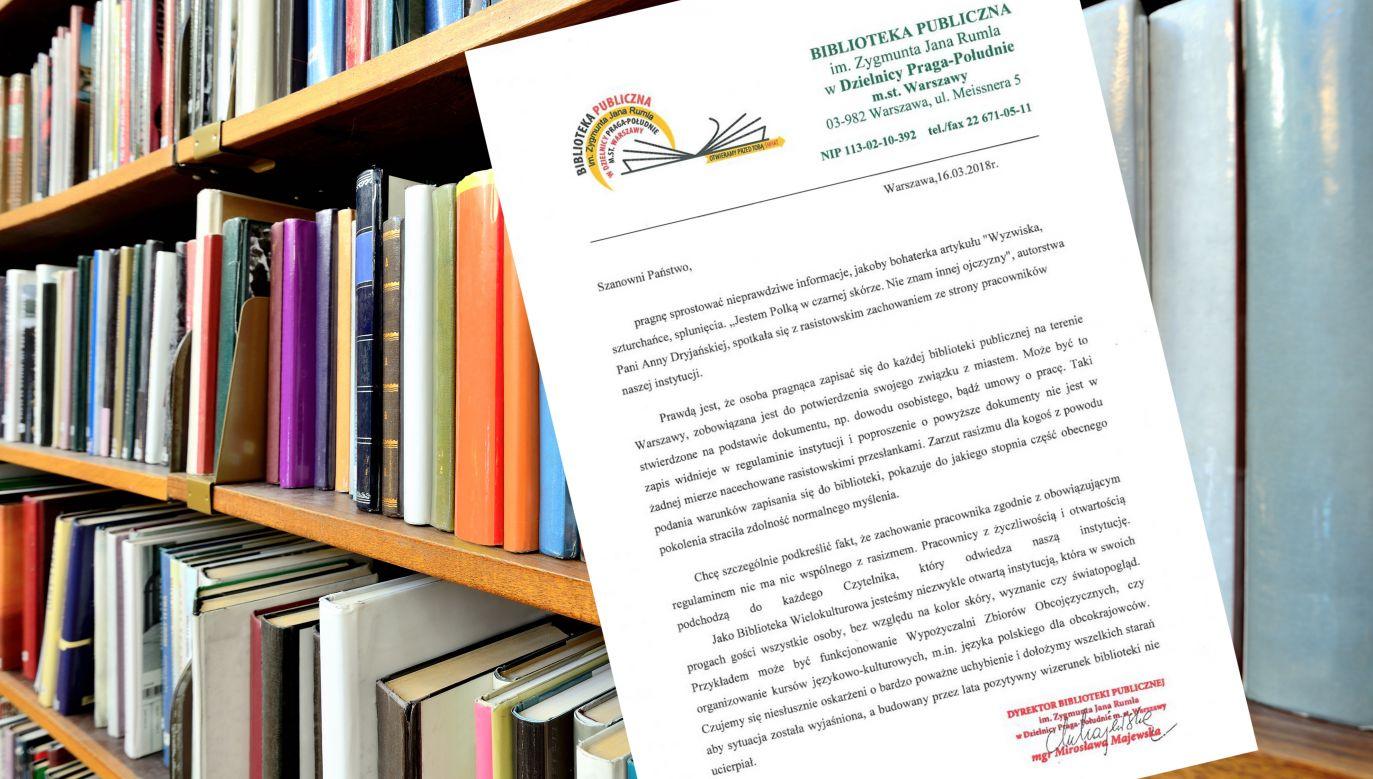 Biblioteka Publiczna im. Zygmunta Jana Rumla wydała oświadczenie (fot. Shutterstock/connel/bppragapd.pl)