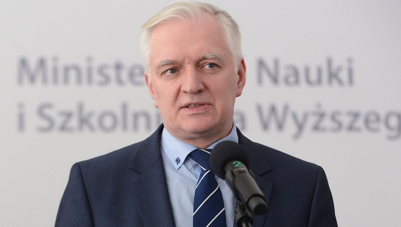 Minister nauki i szkolnictwa wyższego Jarosław Gowin (fot.  PAP/Jakub Kamiński)