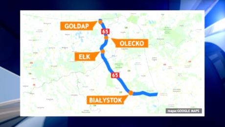 Droga ekspresowa S61 to fragment transeuropejskiego korytarza transportowego Via Baltica