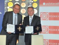 Andrzej Kraśnicki (L) i Prezes PR Andrzej Siezieniewski (fot. Jan Bogacz)