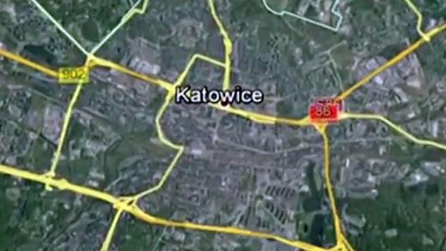 Do wypadku doszło w okolicach Katowic (fot.tvp.info)