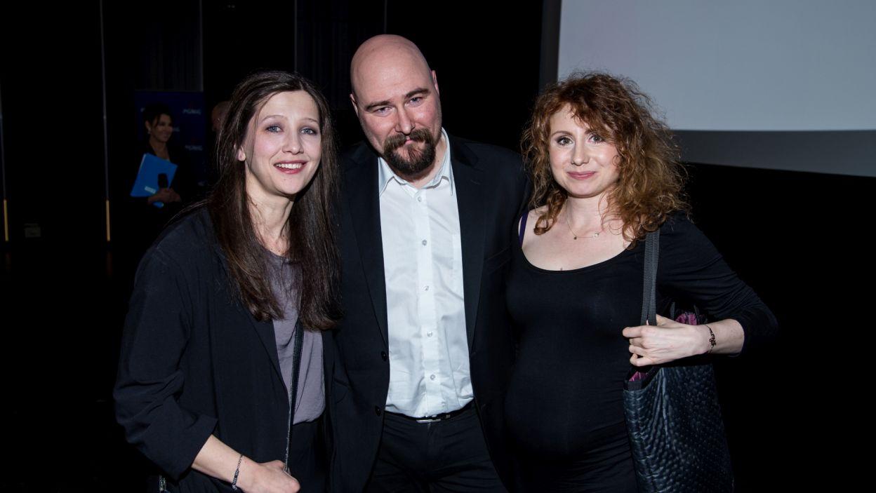 Reżyser Wawrzyniec Kostrzewski oraz aktorki: Olga Sarzyńska i Anna Grycewicz (fot. Jan Bogacz)