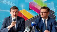 Minister Sportu i Turystyki Witold Bańka prezydent Katowic Marcin Krupa fot. PAP/Andrzej Grygiel