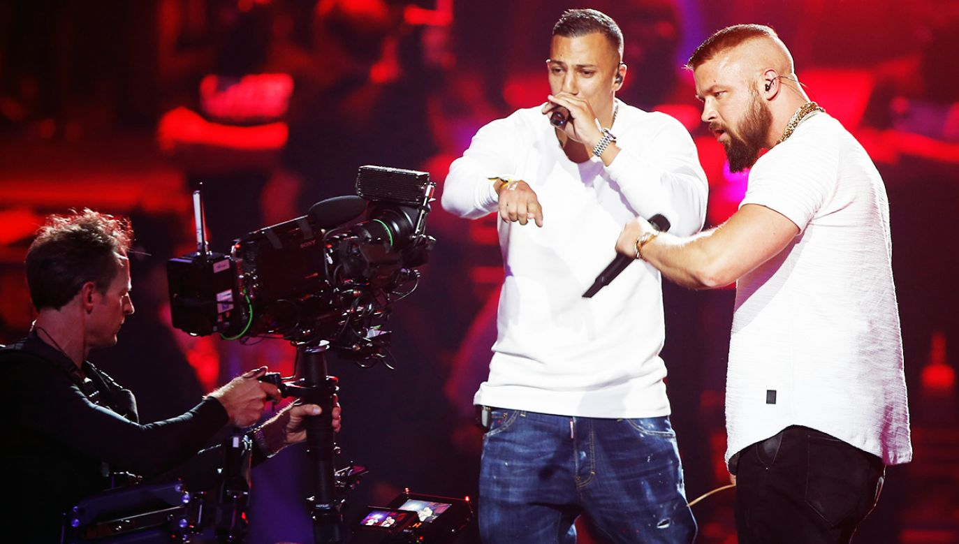 Niemieccy raperzy Kollegah & Farid Bang (fot. REUTERS/Axel Schmidt/Pool)