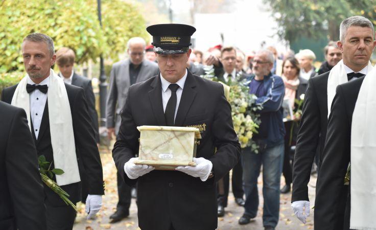 Uroczystości pogrzebowe Anny Szałapak na Cmentarzu Rakowickim w Krakowie, fot. PAP/Jacek Bednarczyk