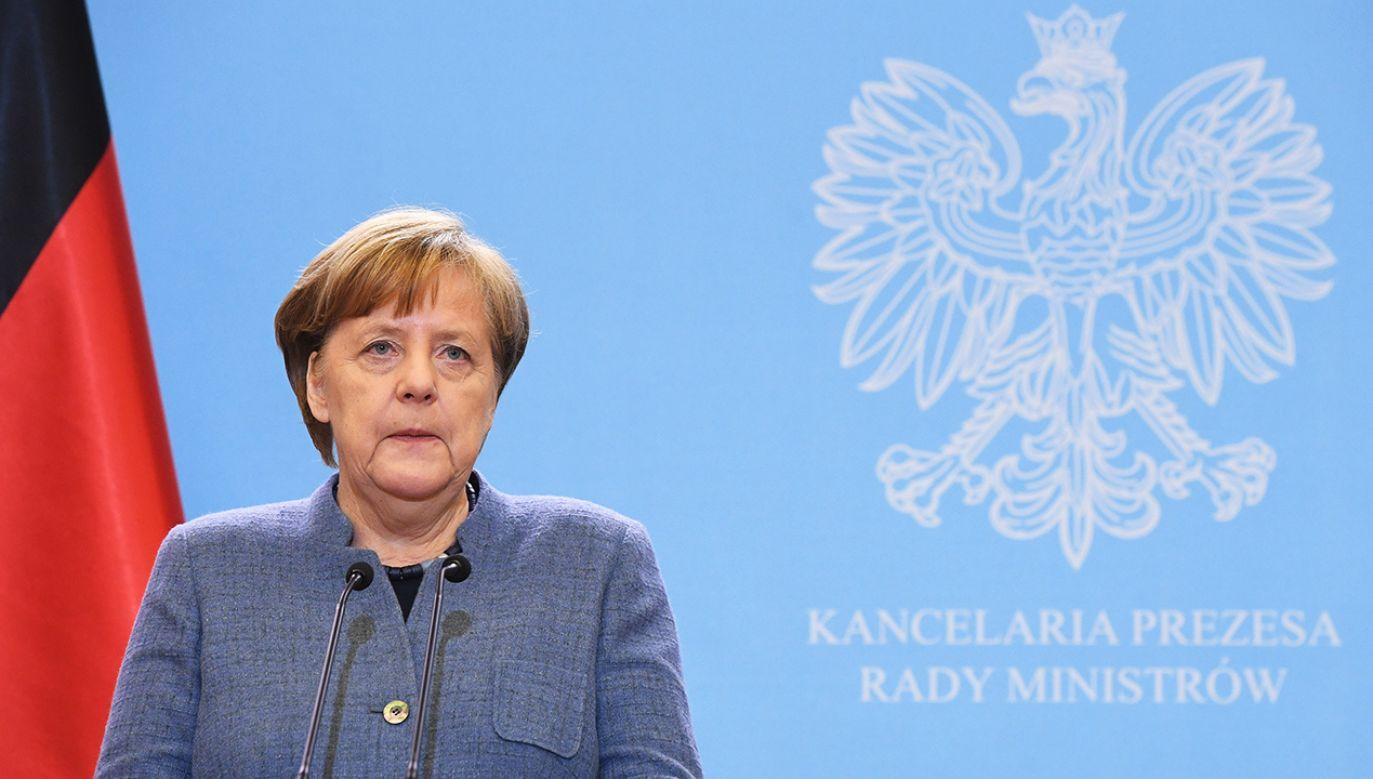 Kanclerz Niemiec Angela Merkel (fot. PAP/Radek Pietruszka)