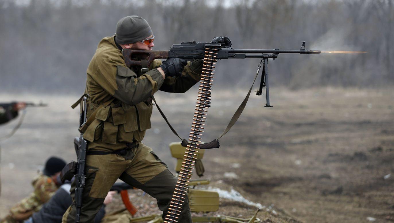 Separatysta z Donieckiej Republiki Ludowej (fot. REUTERS/Baz Ratner)