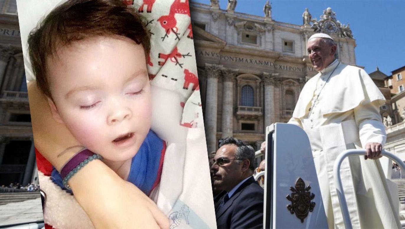 Papież Franciszek spotkał się z rodzicami Alfiego (fot. PAP/EPA/ANGELO CARCONI/FB)