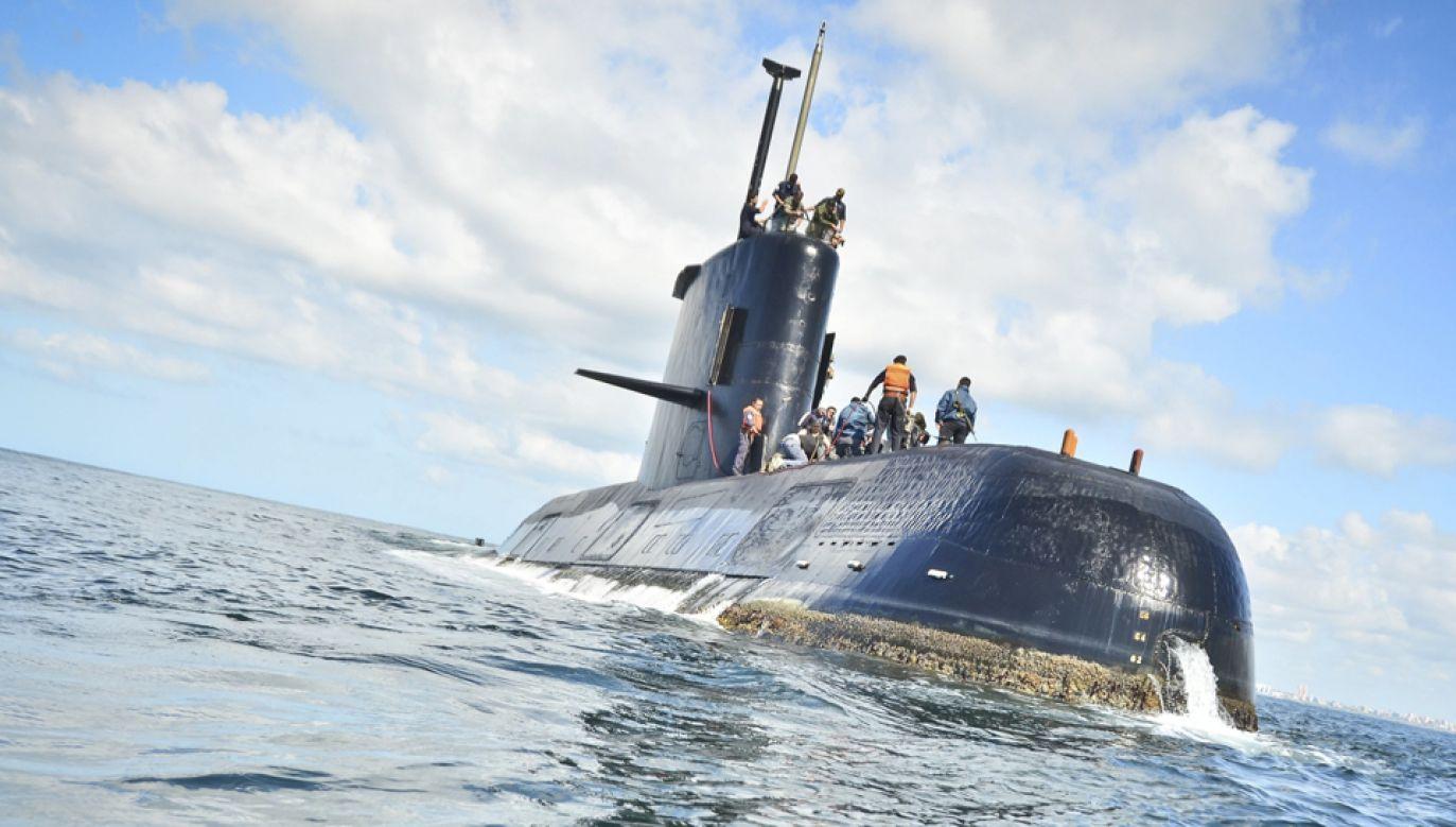 """Okręt podwodny """"San Juan"""" (fot.  PAP/EPA/ARGENTINA NAVY)"""