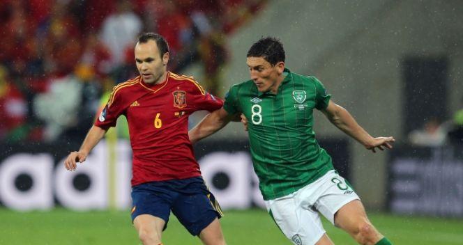 W meczu z Irlandią Iniesta gola nie zdobył, ale jego zespół wygrał 4:0 (fot. Getty Images)