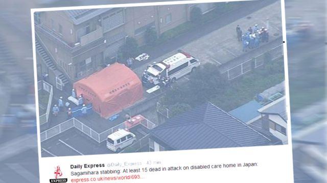 """Atak nożownika pod Tokio. Nie żyje co najmniej 19 osób. """"Zrobiłem to!"""""""