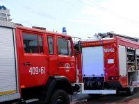 Kilkanaście osób rannych w zderzeniu autobusu z ciężarówką. Samochody spłonęły