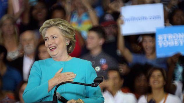41 proc. wyborców Partii Demokratycznej spodziewają się zwycięstwa Clinton (fot. PAP/EPA/CRISTOBAL HERRERA)