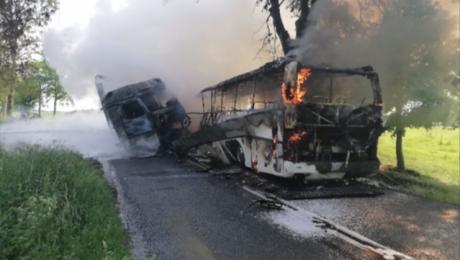 Do wypadku doszło w niedzielę, 27 maja około godziny 16:00 (fot. Komenda Powiatowa PSP w Braniewie)