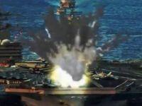 """Korea Północna """"zniszczyła"""" lotniskowiec USA. Reżim publikuje film propagandowy"""